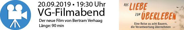 Banner VG-Filmabend
